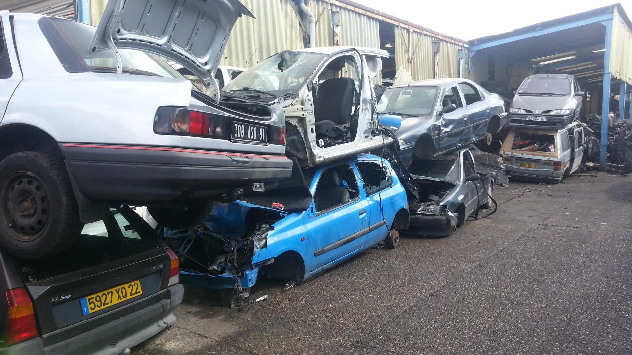 destruction voiture en panne accidentee gagee hs ile de france