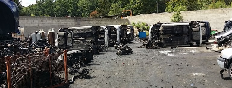 enlevement epave voiture panne accidentee gagee hs brulee Gretz Armainvilliers