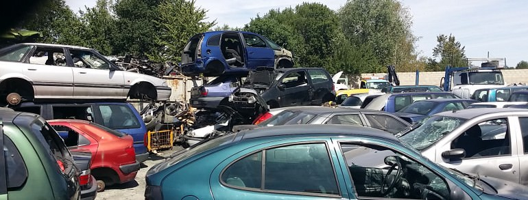 enlevement epave voiture panne accidentee gagee brulee Echarcon