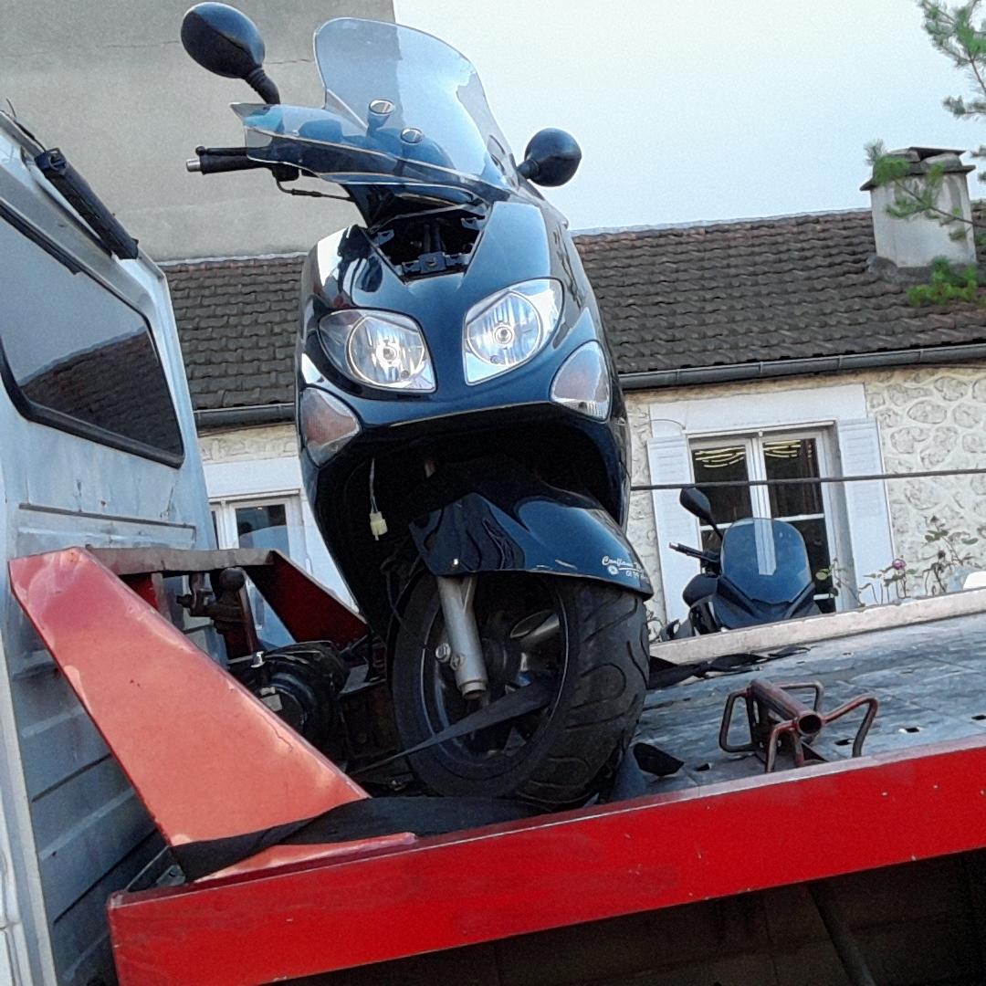 enlevement epave moto scooter panne gagé 92 hauts de seine